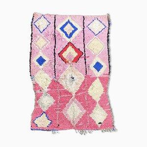 Rosa Boucherouite Teppich aus Marokko