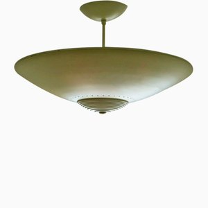 Lampada da soffitto grande vintage a disco di Luxo, anni '70