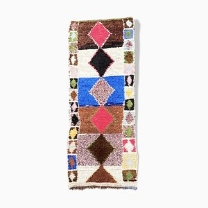 Marokkanischer Boucherouite Berber Teppich
