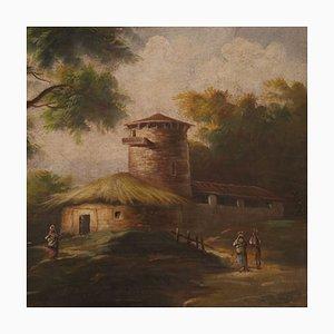 Pintura de paisaje italiana bucólica