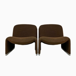 Alky Lounge Chairs by Giancarlo Piretti for Artifort & Castelli, 1970s, Set of 2
