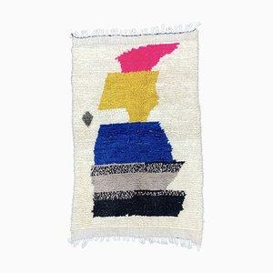 Handgeknüpfter Moderner Marokkanischer Berber Wollteppich