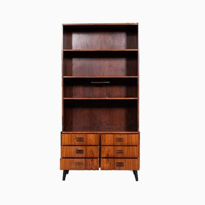 Mid-Century Danish Bookcase with Drawers, 1950s