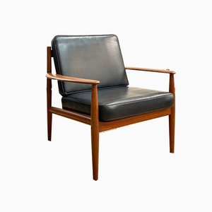 Mid-Century Scandinavian Teak Lounge Chair by Grete Jalk for France & Son, 1950s