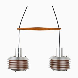 Dänische Deckenlampen, 1960er, 2er Set