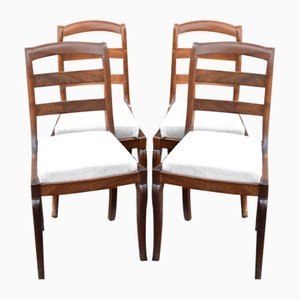 Wooden Restaurant Chairs, Set of 4
