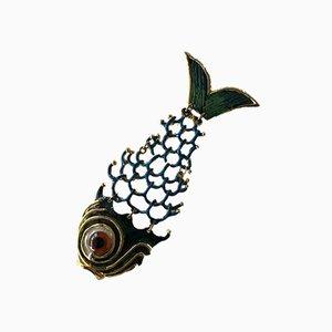 Pesce Vintage Bijoux Charm für Halskette, 1970er