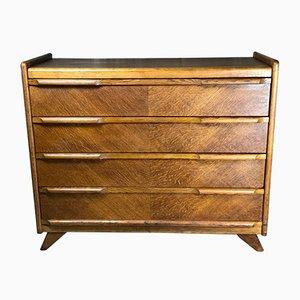 Scandinavian Teak Veneer Dresser, 1950s