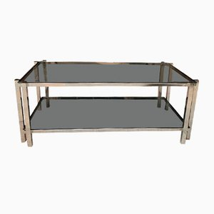 Coffee Table with 2 Tops in the style of Jacques Adnet, 1975