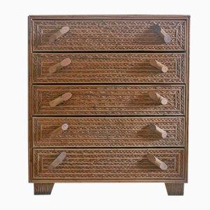 Dresser in Woven Bamboo, 1960s
