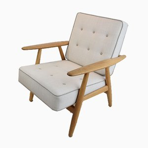 GE-240 Cigar Easy Chair by Hans J. Wegner, 1950s, Set of 2