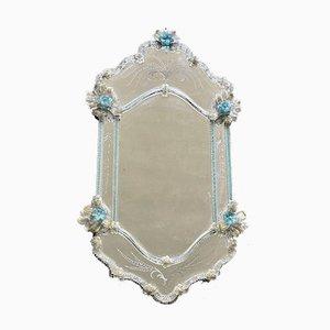 Specchio grande veneziano in vetro di Murano, anni '60