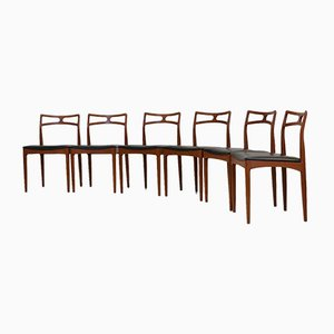 Danish Teak Chairs by Johannes Andersen, Set of 6