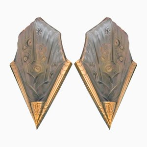 Art Deco Wall Lights, Set of 2