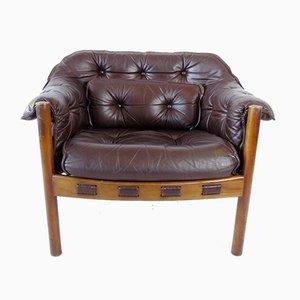 Coja Leather Lounge Chair by Sven Ellekaer