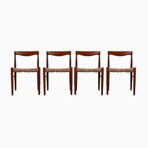Dänische Mid-Century Esszimmerstühle von WH Klein für Bramin, 4er Set