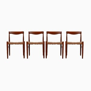 Danish Mid-Century Dining Chairs by W. H. Klein for Bramin, Set of 4