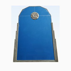Art Deco Silver Wood Mirror
