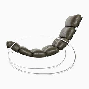 Leather Rocking Chair by Hans Kaufeld