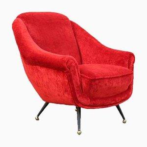 Italian Velvet Chairs by Mario Franchioni for Framar, Set of 2