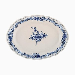 Oval Cutout Serving Dish in Hand Painted Porcelain from Meissen