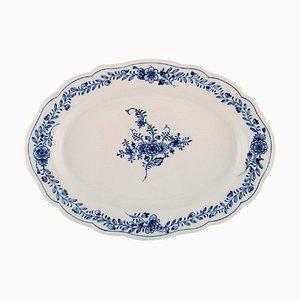 Plat Ovale Découpé en Porcelaine Peinte à la Main de Meissen