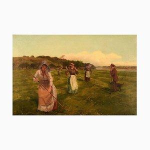 Arthur William Redgate, olio su tela, Tempo di vendemmia, fine XIX secolo