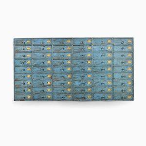 Blaue Holz Schubladen
