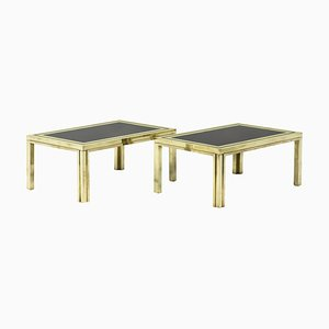 End Tables in Gilt Brass by Maison Iiwans, 1970s, Set of 2
