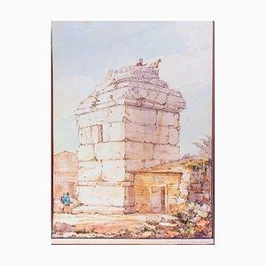 David Roberts, Decilli Tash or Arcadian Column, Watercolor, 1830