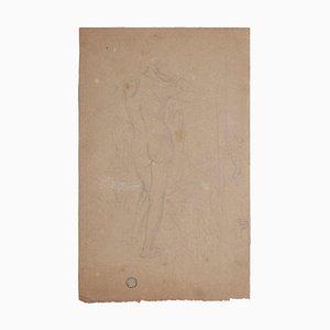 Charles Lucien Moulin, Akt von hinten, Bleistift, 20. Jahrhundert