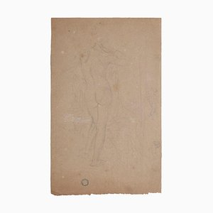Charles Lucien Moulin, Nude From the Back, Pencil, 20th Century