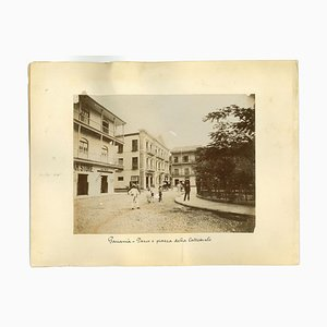 Unknown, Ancient Views of Panama City, Vintage Photos, 1880s, Set of 2