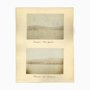 Unknown, Ancient Views of Acapulco, Landscape in Guatemala, Vintage Photos, 1880s, Set of 3