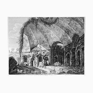 Luigi Rossini, Tempio detto Canopo del Dio Serapide, Etching, 1824