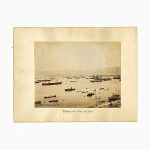 Unknown, Ancient View of Valparaiso, Chile, Vintage Photo, 1880s
