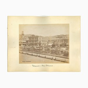 Unknown, Ancient Views of Valparaiso, Vintage Photos, 1880s, Set of 2