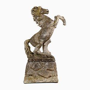 Mid-Century Stone Horse Garden Statue