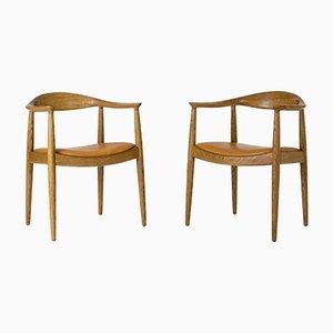 The Chair by Hans J. Wegner for Johannes Hansen, Set of 2