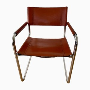 Vintage S34 5 Leather Chairs by Marcel Breuer, Set of 5