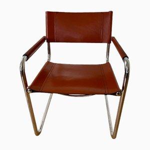 Vintage S34 5 Leder Stühle von Marcel Breuer, 5er Set