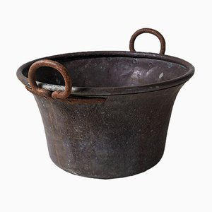 Large Copper Cauldron Pot