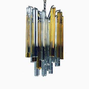 Italienischer Murano Glasprismen Kaskaden Kronleuchter von Venini, 1960er
