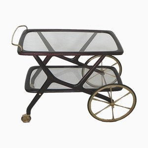 Bar Cart in the Style of Cesare Lacca, 1950s
