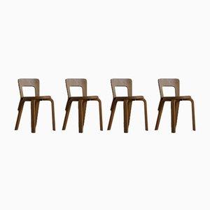 Chaises de Salon Modèle 65 par Alvar Aalto pour Artek, 1950s, Set de 4