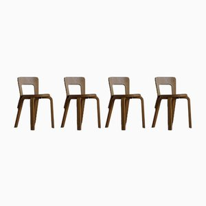 Model 65 Dining Chairs by Alvar Aalto for Artek, 1950s, Set of 4