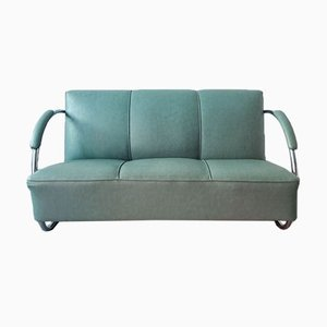 Art Deco Streamline Sofa from Fábrica Portugal, 1930s
