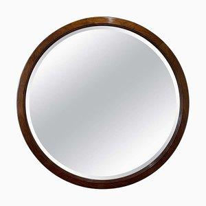 Großer Runder Art Deco Spiegel