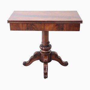Tavolo da gioco antico in mogano, metà XIX secolo
