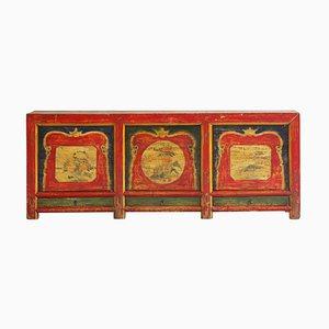 Antikes Qinghai Lackiertes Kiefernholz Sideboard